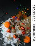 many christmas decorations as... | Shutterstock . vector #773437252