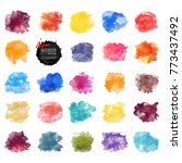 vector watercolor background.... | Shutterstock .eps vector #773437492