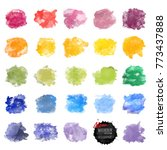 vector watercolor background.... | Shutterstock .eps vector #773437888