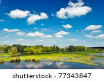 river flood waters wallpaper ... | Shutterstock . vector #77343847