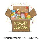 food drive charity movement... | Shutterstock .eps vector #773439292
