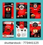 japanese cuisine restaurant and ... | Shutterstock .eps vector #773441125