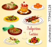 bulgarian cuisine icon with... | Shutterstock .eps vector #773441128