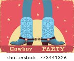 cowboy party card background... | Shutterstock .eps vector #773441326