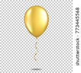 realistic gold balloon ... | Shutterstock .eps vector #773445568