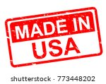 made in usa stamp | Shutterstock .eps vector #773448202