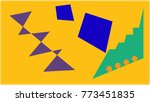 abstraction of geometric shapes ... | Shutterstock . vector #773451835