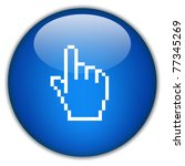 hand icon  click here | Shutterstock . vector #77345269