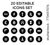 quality icons. set of 20... | Shutterstock .eps vector #773457076