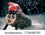 a handmade tio de nadal  a... | Shutterstock . vector #773458792