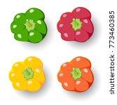 red pepper   green pepper  ...   Shutterstock .eps vector #773460385