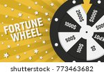 wheel of fortune isolated on... | Shutterstock .eps vector #773463682