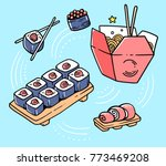 vector illustration of set of...   Shutterstock .eps vector #773469208