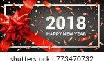 stock vector 2018 happy new...   Shutterstock .eps vector #773470732