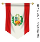 peru flag or pennant isolated... | Shutterstock .eps vector #773471758
