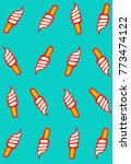 creative ice cream cones... | Shutterstock .eps vector #773474122