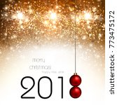 happy new year background with... | Shutterstock .eps vector #773475172