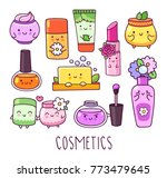 collection of cosmetics  nail... | Shutterstock .eps vector #773479645