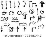doodle vector hand drawn arrows....   Shutterstock .eps vector #773481442