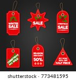 christmas sale paper tag banner ...   Shutterstock .eps vector #773481595