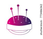 silhouette pin and pincushion... | Shutterstock .eps vector #773486362