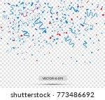 colorful confetti. vector... | Shutterstock .eps vector #773486692