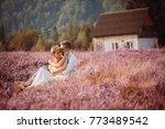 the lovely couple in love... | Shutterstock . vector #773489542