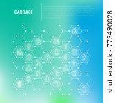 garbage concept in honeycombs...   Shutterstock .eps vector #773490028