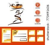 template logo for bakery ... | Shutterstock .eps vector #773491636
