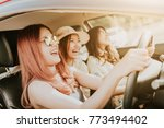group of happy asian girl... | Shutterstock . vector #773494402