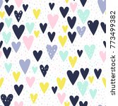 creative seamless pattern with... | Shutterstock .eps vector #773499382