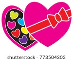 chocolate box and chocolates ... | Shutterstock .eps vector #773504302