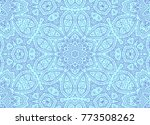 blue drawing lines concentric... | Shutterstock . vector #773508262
