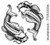 koi carp vector illustration ... | Shutterstock .eps vector #773510206
