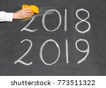 new year 2019 is coming concept ... | Shutterstock . vector #773511322