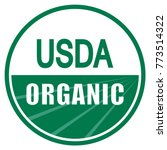 usda organic shield sign | Shutterstock .eps vector #773514322