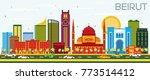 beirut lebanon skyline with... | Shutterstock .eps vector #773514412