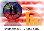 bitcoin close up on the... | Shutterstock . vector #773515582