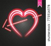 bright neon heart. heart sign...   Shutterstock .eps vector #773516578