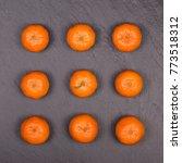 fresh orange  tangerine fruit ... | Shutterstock . vector #773518312