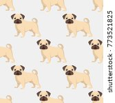 seamless pattern of dogs ...   Shutterstock .eps vector #773521825
