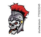 head skull with knight warrior... | Shutterstock .eps vector #773525245