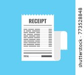 receipt icon. invoice sign.... | Shutterstock .eps vector #773528848