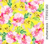 modern yellow watercolor floral ... | Shutterstock . vector #773531182