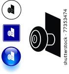 door knob symbol sign and button | Shutterstock .eps vector #77353474