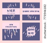 unusual trendy creative cards... | Shutterstock .eps vector #773546182
