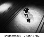 unhappy lonely depressed woman  ...   Shutterstock . vector #773546782
