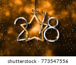 2018 happy new year background... | Shutterstock . vector #773547556