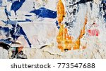 grunge creased crumpled ripped... | Shutterstock . vector #773547688