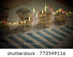 various type of financial and...   Shutterstock . vector #773549116
